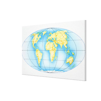 Globe of the World Stretched Canvas Prints