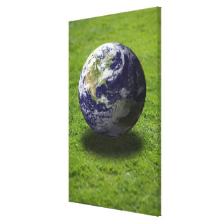 Globe on lawn 3 gallery wrapped canvas