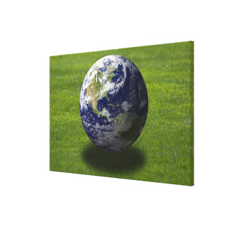 Globe on lawn 4 gallery wrapped canvas