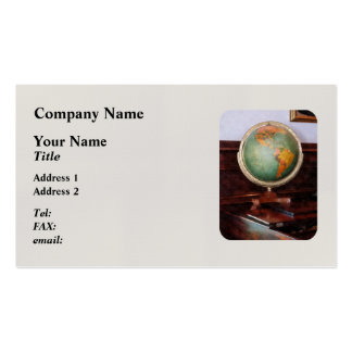 Globe on Piano Business Cards