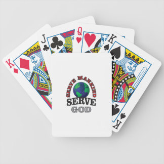 globe serve god and mankind poker deck