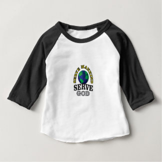 globe service to god and man baby T-Shirt