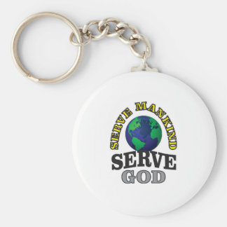 globe service to god and man basic round button key ring