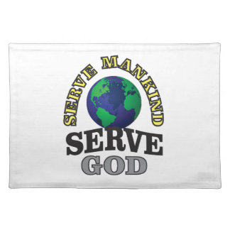 globe service to god and man placemat