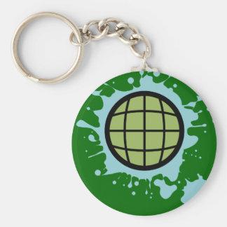 Globe Splotch. Basic Round Button Key Ring