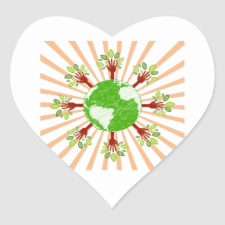 globe trees bursting out rays.png heart sticker