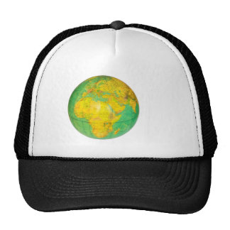 Globe with planet earth isolated on white cap