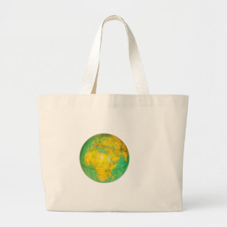 Globe with planet earth isolated on white large tote bag