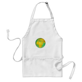 Globe with planet earth isolated on white standard apron