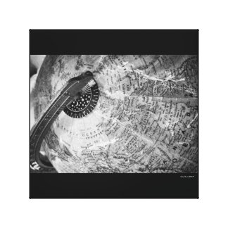 Globe world map xildxhild canvas photography b&w canvas print
