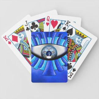 Globellinossa V1 - triple eyes Bicycle Playing Cards