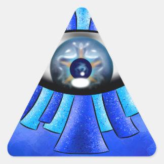 Globellinossa V1 - triple eyes Triangle Sticker