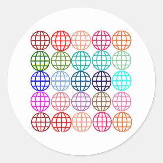 Globes Round Circles Round Sticker
