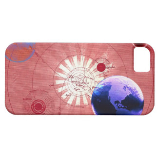 Globes with map of universe iPhone 5 cover