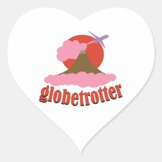 Globetrotter Heart Sticker