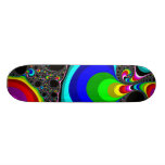 Globular Rainbow - Fractal 18.1 Cm Old School Skateboard Deck