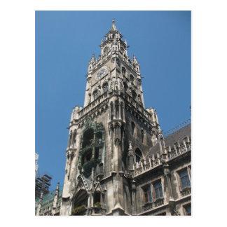 Glockenspiel Tower - Munich, Germany Postcard