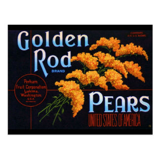 Gloden Rods Pears Postcard
