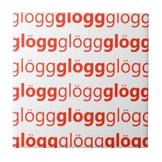 Glogg Glogg Glogg Funny Swedish Ceramic Tiles