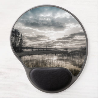 Gloomy lake gel mouse pad