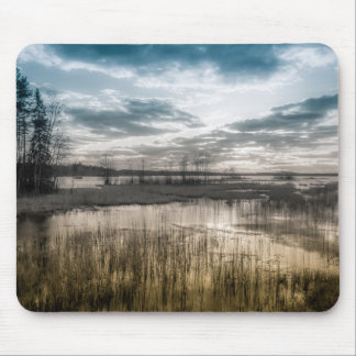 Gloomy lake mouse pad