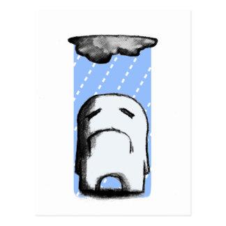 Gloomy With a Chance of Rain Postcard