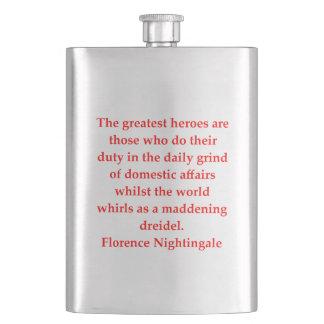 glorence nighitngale hip flask