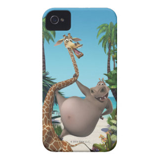 Gloria and Melman Friends iPhone 4 Covers