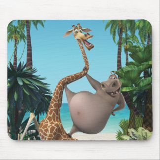 Gloria and Melman Friends Mouse Pad