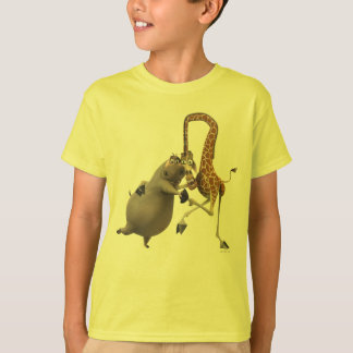 Gloria and Melman Hand Holding T-Shirt