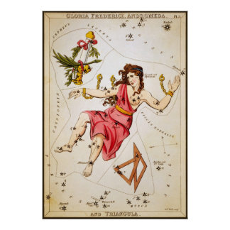 Gloria Frederici, Andromeda, and Triangula Poster