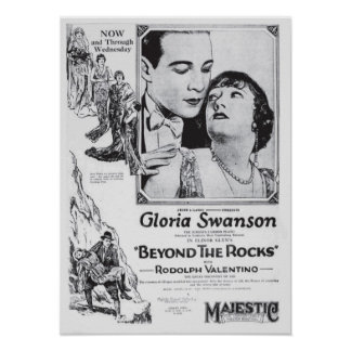 Gloria Swanson 1922 vintage movie ad poster