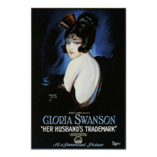 Gloria Swanson Husband's Trademark Movie Poster