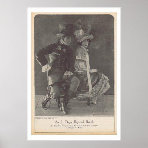 Gloria Swanson Rudolph Valentino Poster