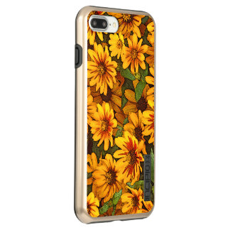 """""""Gloriosa Daisies"""" /yellow with brown-red colours Incipio DualPro Shine iPhone 8 Plus/7 Plus Case"""