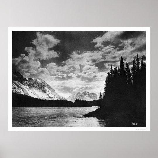 Glorious Alaska Mountains 1920 Poster