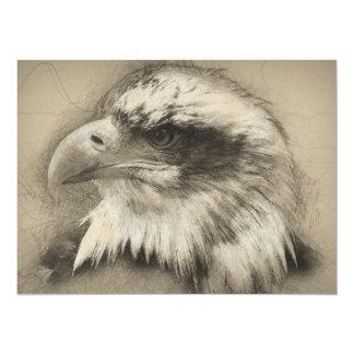 Glorious Bald Eagle Setch Card