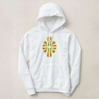 Glorious Cross Embroidered Hooded Sweatshirts