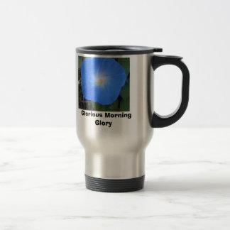 Glorious Morning Glory Stainless Steel Travel Mug