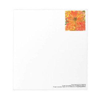 Glorious orange flower notepad