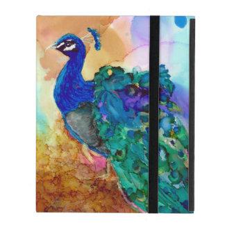 Glorious Peacock Alcohol Ink iPad Folio Case