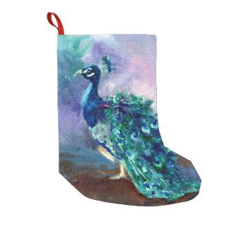 Glorious Peacock II Small Christmas Stocking