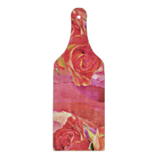 Glorious pink roses cutting board
