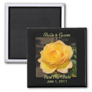 Glorious Rose Save The Date Magnet