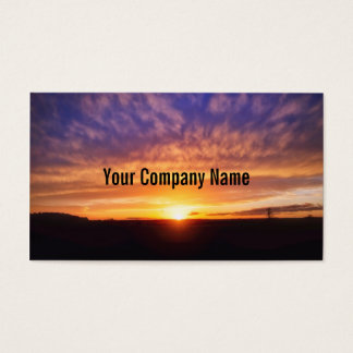 Glorious Sunset Business Cards