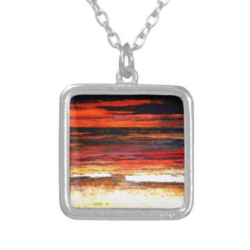 Glorious Sunset Colors Ocean Art Beach Painting Jewelry