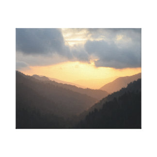 Glorious Sunset in the Great Smoky Mtns Canvas Canvas Print