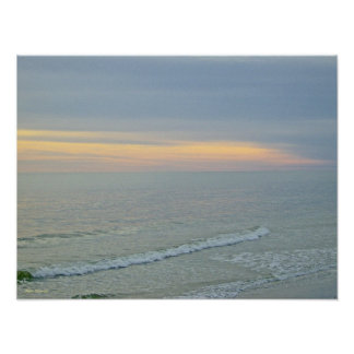 Glorious Sunset On The Beach Poster