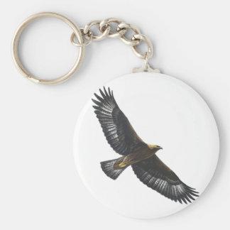 Glorius Golden Eagle Soaring Basic Round Button Key Ring