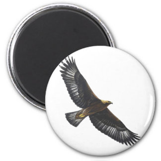 Glorius Golden Eagle Soaring 6 Cm Round Magnet